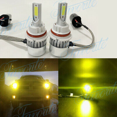 9004 HB1 LED Headlights Bulbs 55W 8000LM Kit High Low Beam Premium 3000K Yellow