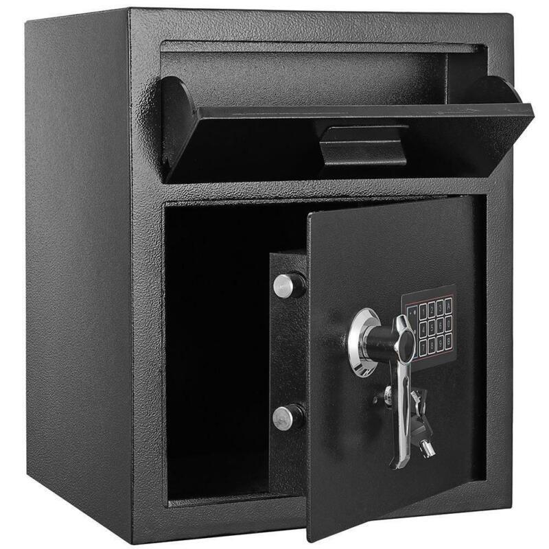 Zokop Electric Depository Drop Gun Digital Safe Box Cash Office Security Lock