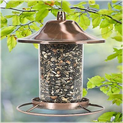 Copper Squirrel Proof Hanging Wild Bird Feeder Outdoor Garden Backyard Ornament
