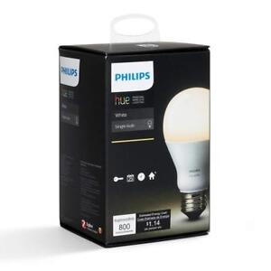 NEW Philips Hue White A19 Single Bulb, Apple HomeKit compatible