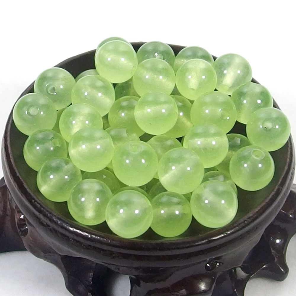 Bulk Gemstones I natural spacer stone beads 4mm 6mm 8mm 10mm 12mm jewelry design light green jade