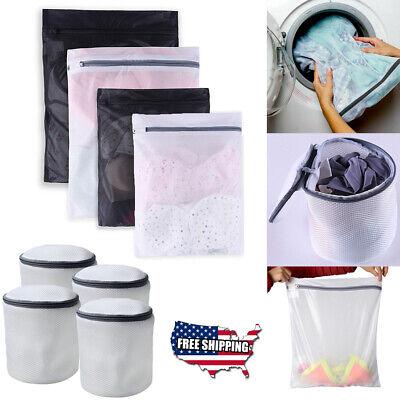 Zippered Net Mesh Wash Bag Laundry Washing Socks Bra Lingerie Clothes Set US