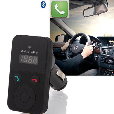 Bluetooth Hands-Free Car Kit FM Transmitter USB SD Card MP3 Player with Remote on Rummage