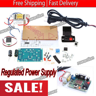 Continuously Adjustable Ac-dc Regulated Power Supply Diy Kit Lm317 1.25-12v S3l4