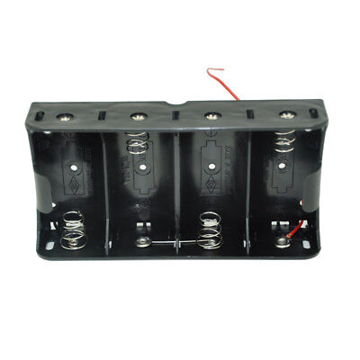 D Size Dc 4 Cells Battery Power Supply Holder Case Box With Wire