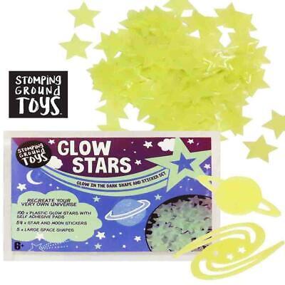 Multi Pack Glow In The Dark Star Planet Stickers for Kids Bedroom & Nursery