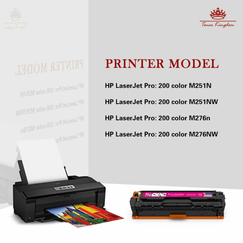 4PK CF210A Color Toner For HP 131A LaserJet Pro 200 M251nw MFP M276nw Printer