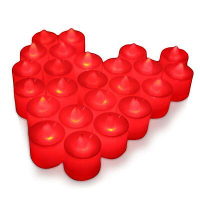 Freehawk 24PCS LED Tea Light Candles, Battery Operated Lights, Red ](Red Tea Candles)