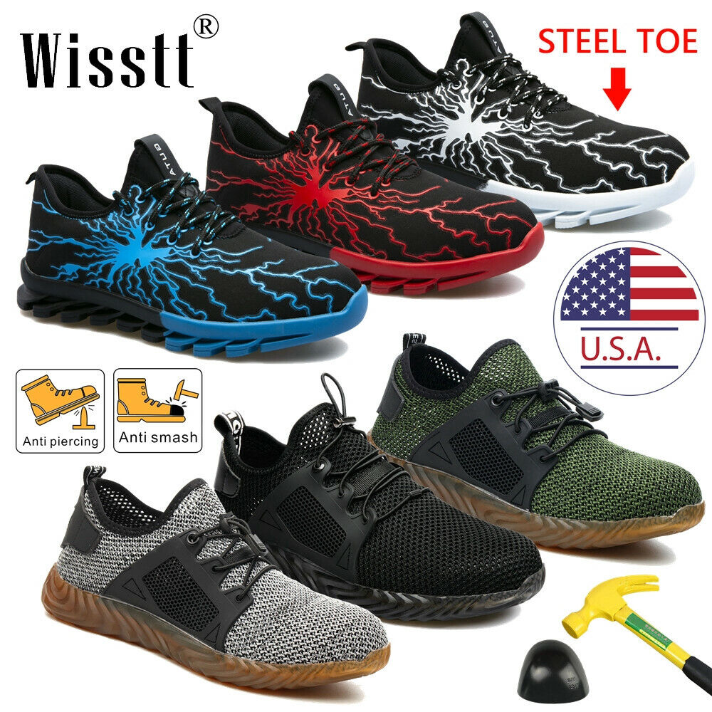 Men's Work Safety Shoes Steel Toe Boots Indestructible Breathable Outdoor Casual