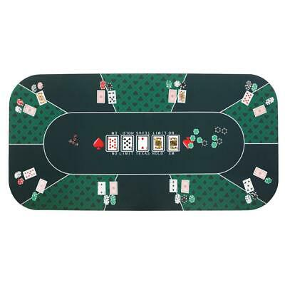 Foldable Poker Mat Rubber 8 Player Table Top Layout Cards Games Casino Portable