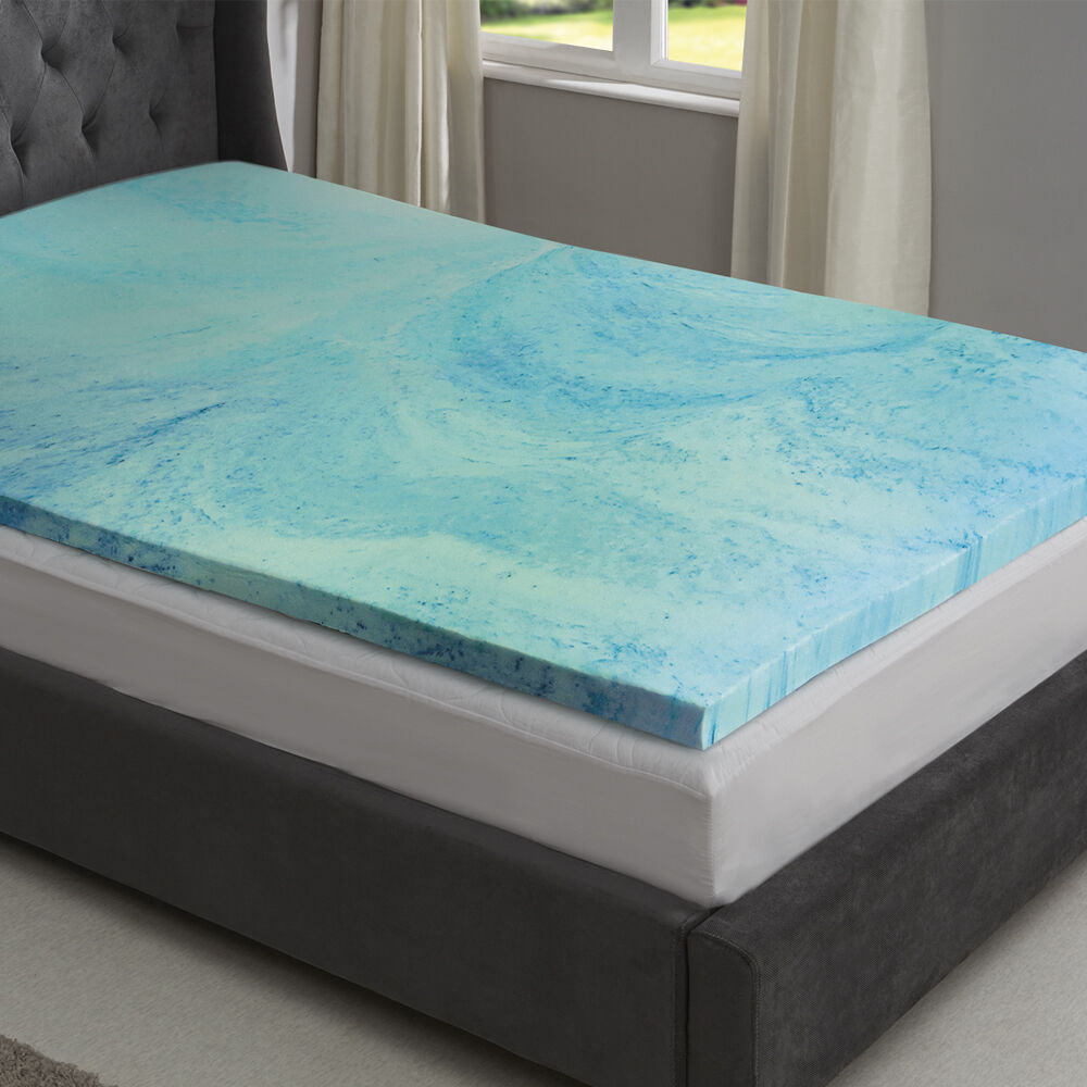 memory foam mattress topper cool gel 2 5 5cm thick single dbl king starry night ebay. Black Bedroom Furniture Sets. Home Design Ideas