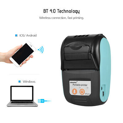 GOOJPRT PT -210 58MM BT Thermal Printer Portable Wireless Receipt POS Machine