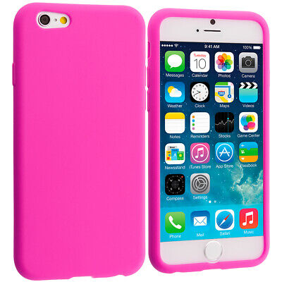 Für iPhone 8 Plus Silikon Handy Hülle Cover Etui Case Schutzhülle Tasche Pink Iphone Pink Silikon