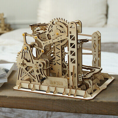 Roller Coaster Models (ROKR Marble Run Model Building Kits Roller Coaster Constrction Toy Wooden)