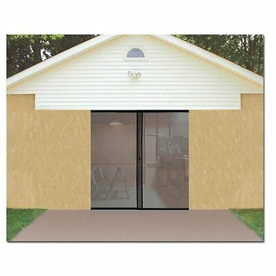 Garage Door Screen Single Magnetic Closure Weighted Bottom Insects Bugs Mesh NEW 1
