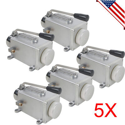 5pcs Manual Lubrication System Oil Pump Hand Operate Lubricator For Punching Fda