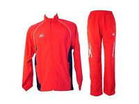 Mizuno Pro Team Light Tracksuit 60WW715-62 Size Large Mens Red/Navy