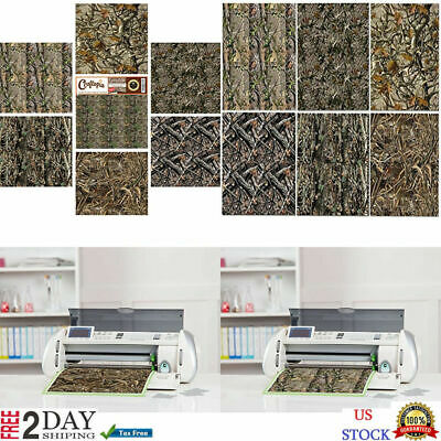 NEW Vinyl Camo Self Adhesive Assorted Sheets 6+1 PACK BEST Camoflage For