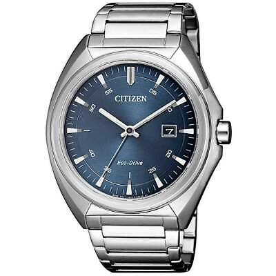 Citizen Eco-Drive Men's Blue Dial Calendar Bracelet 41mm Watch AW1570-52L