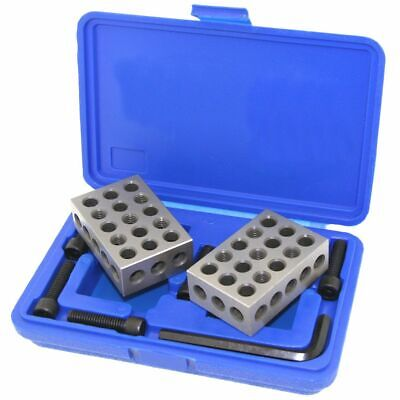 1-2-3 123 Block Ultra Precision Mill Screws Clamping Set Kit Case Machinist Tool