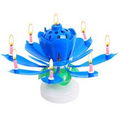 Candela Fiore Delle Magie Blu Per Torta Di Compleanno