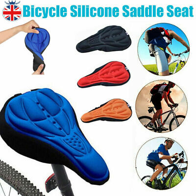 3D Silicone Gel Bike Bicycle Cycling Saddle Seat Cover Comfort Soft Cushion Pad