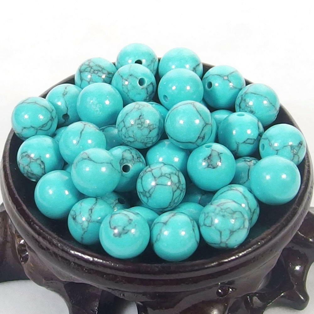 Bulk Gemstones I natural spacer stone beads 4mm 6mm 8mm 10mm 12mm jewelry design blue turquoise