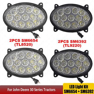 Led Light Kit For John Deere 30 Series Tractors Oval 65w 39w Led Work Lights