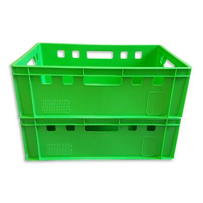 2 x Eurofleischkiste E2 Lagerkiste Metzgerkiste Box Behälter stapelbar
