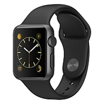Apple Watch Sport 38Mm Space Gray Aluminum Case Black Sport Band Composite Back