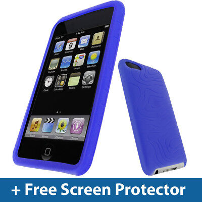 Blue Silicone Skin Case for iPod Touch 2nd 3rd Generation 2G 3G iTouch Cover 3g Blue Skin