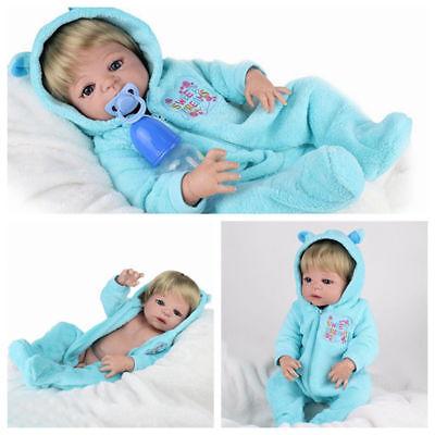 Full Body Soft Reborn Baby Dolls Vinyl Silicone Realistic Newborn Boy Doll Gifts
