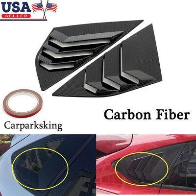 - Carbon fiber ABS Window Side Louvers Vent For Ford Focus ST RS MK3 Hatchback US