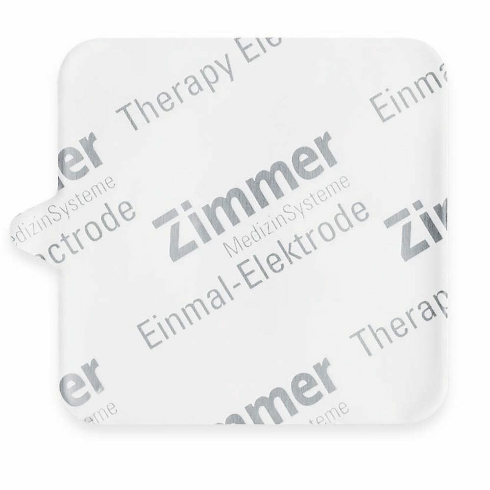 """Zimmer Single-Use 2"""" X 2"""" SquareElectrodes Package of 200 with Alligator Adapter"""