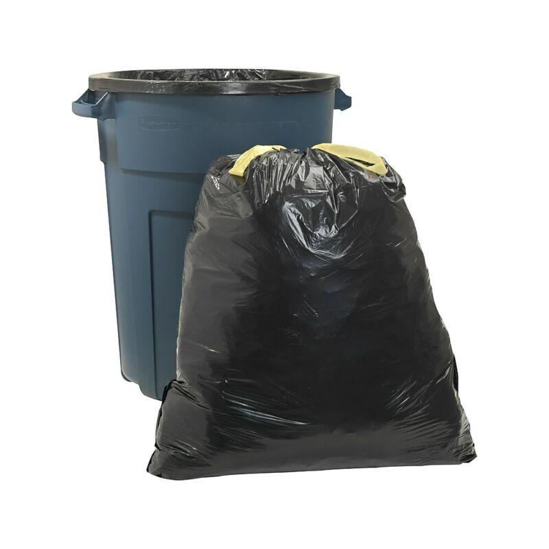 Staples Brand Trash Bags Drawstring Black 33 gal 30 BG per BX 735680