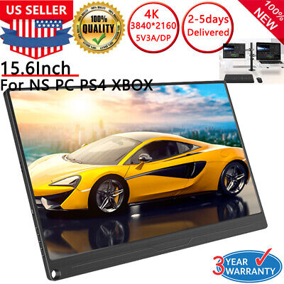 UPERFECT 15.6 inch 4K Ultra Slim HDR Portable Monitor IPS 3840x2160 HDMI Type-C