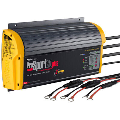 ProSport 20 PLUS Gen 3 HD On-Board Marine Battery Charger - 20 Amp - 3 Bank