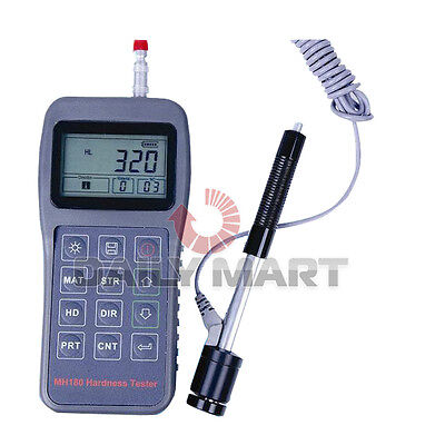 Brand New Portable Hardness Tester Mh-180 Rebound Leeb Meter Lcd El Background