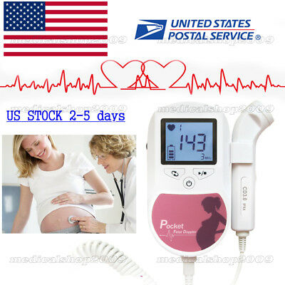 Handheld Pocket Fetal Dopplerprenatal Heart Monitorsultrasound Scannergel