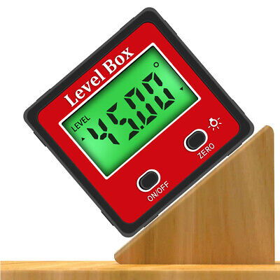 Lcd Magnetic Digital Protractor Inclinometer Level Box Angle Finder Bevel Box Us