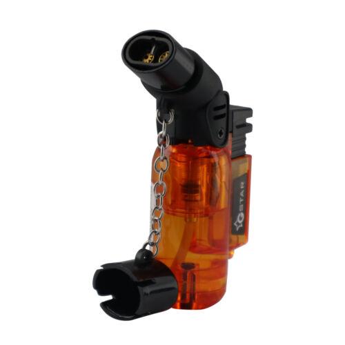 GStar Double Jet Flame Butane Cigarette Cigar Torch Lighter – Orange