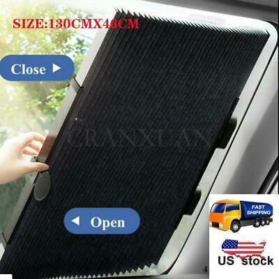 US Car Retractable Curtain UV Protection Front Windshield Sun Visor Accessories