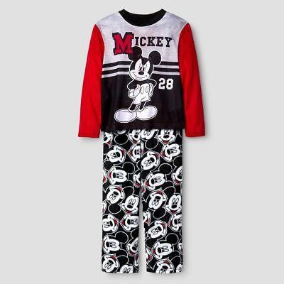 Disney Mickey Mouse Boys Shirt & Pants Pajamas Set w/ Sleep Sack, Size XS, S, M -
