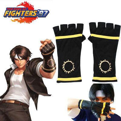 Hot King of Fighters 97 Kyo Kusanagi Fighting Gloves Cosplay Costume Accessories