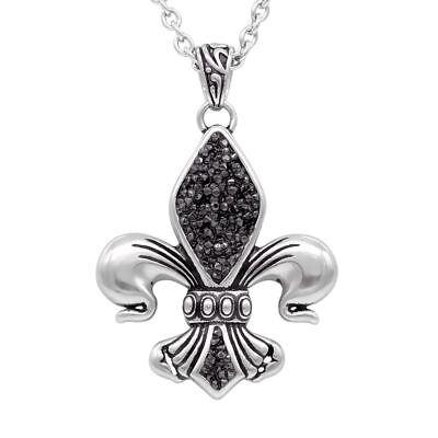 Black Fleur De Lis - black & bright fleur-de-lis necklace By Controse