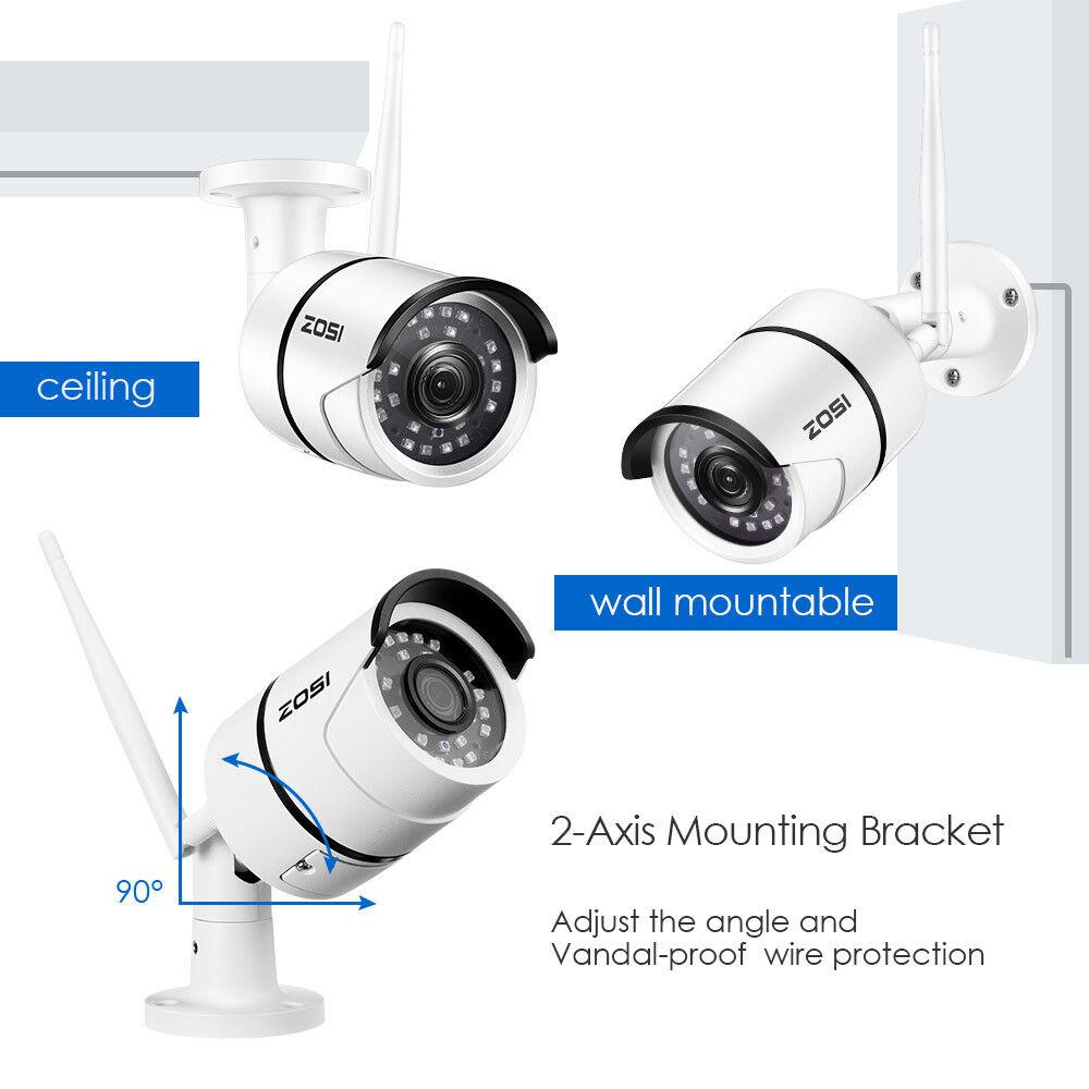 ZOSI 1080P Wireless WIFI IP Camera Onvif Outdoor Security