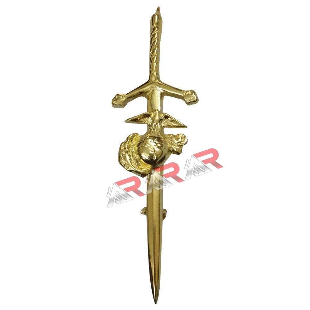 Scottish Kilt Pin Us Marine Corps Highland Kilts Pin 4 acabado en cromo oro