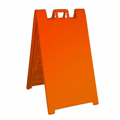 Plasticade 130-o Signicade A Frame Plain Portable Folding Sidewalk Sign Orange