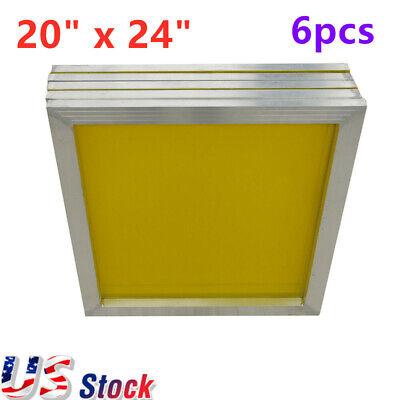 6pcs 305 Mesh 20 X 24 Aluminum Frame Silk Screen Printing Screens