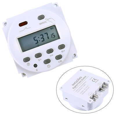 New DC 12V Digital LCD Power Programmable Timer Time switch Relay 16A CN101A US